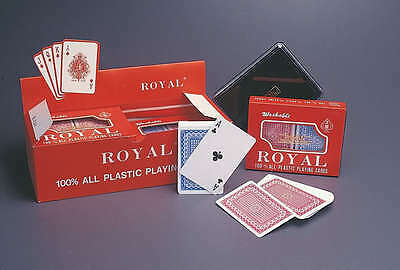 100% Plastic ROYAL PLAYING CARDS POKER BUY 1 GET 1 FREE • 2.97£