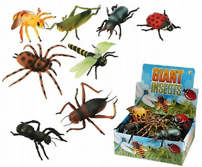 Giant Plastic Insects Toy 6 - 8 Inch Long Flying Bugs Spider Wasp Mini Beasts • 2.49£