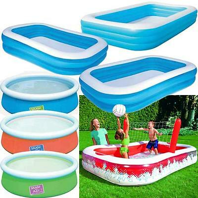 Large Family Swimming Pool Garden Outdoor Summer Inflatable Kids Paddling Pools • 29.95£