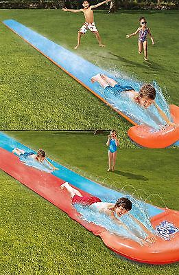 16' Inflatable Raceway Garden Water Slide Outdoor Rally Pro Activity Fun Game • 16.95£