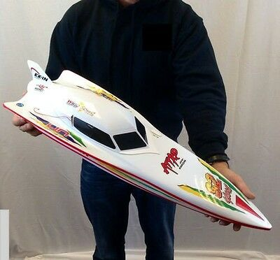 7000 RC Remote Radio Control Syma WHITE Stealth Racing Speed Boat **UK SELLER** • 69.99£