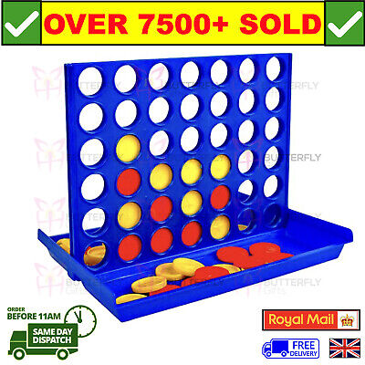 Connect 4 In A Row Four In A Line Board Game Family Fun Take On Trips Fab Mini • 3.79£