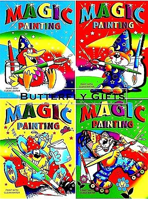 4 X A4 MAGIC PAINTING COLOURING ART BOOKS FOR CHILDREN NO MESS JUST USE WATER    • 3.95£