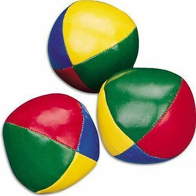 Set Of 3 Juggling Balls Circus Clown Coloured Learn To Juggle Toy Game Soft • 4.49£
