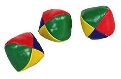 Set Of 3 Professional Juggling Balls Circus Clown Coloured Learn To Juggle Toy • 4.49£