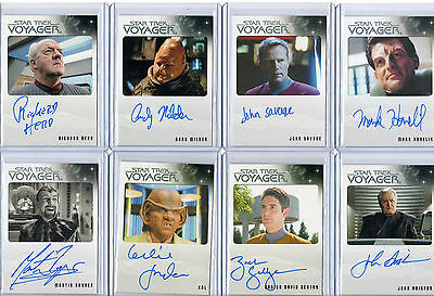 Star Trek Voyager Autograph & Costume Card Selection NM  Rittenhouse Aliens • 45£