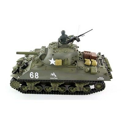 Radio Remote Control RC Tank 2.4G British Sherman 105 Howitzer 1/16 2 Sounds  • 159.99£