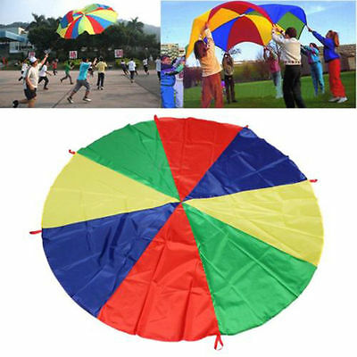 Kids Play Parachute 1.8m Large Children Rainbow Outdoor Game Exercise Sport Toy • 9.99£