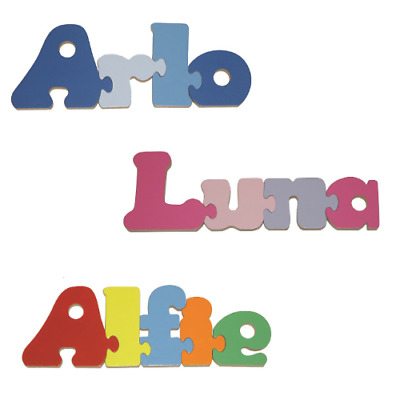 Personalised Childrens Name Jigsaw Puzzle Wooden  - Boys And Girls Names • 5.50£