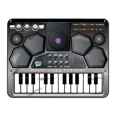 Kids Electronic Music Dj Style Playmat Musical Style Touch Tune Sound Play Mat • 17.95£