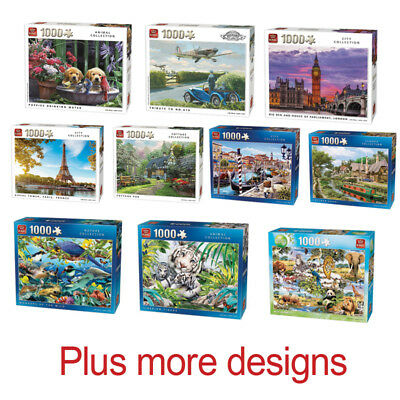 1000 Piece Jigsaw Puzzle Puzzles - Choice Of 46 Animals Cities Landmarks Cottage • 10.49£
