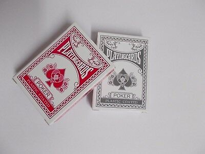 Professional Plastic Coated Playing Cards Decks Poker Size - Pink Or Grey • 7.99£