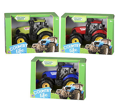 Large Kids Farm Tractor 3 Colours Tractor Toy Farm Play Set • 8.75£