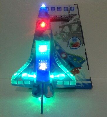 Space Craft Bump & Go Flashing Lights & Music Moving On Ground 360 Degree   • 50£