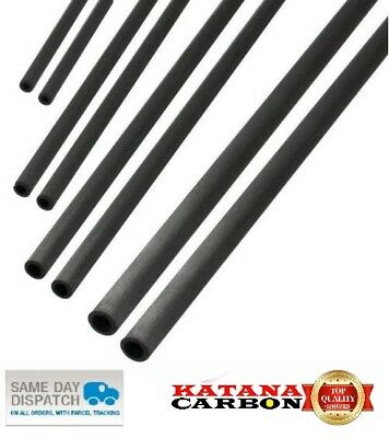 UD 1 X OD 4mm X ID 2mm X 1000mm (1 M) Premium 100% Carbon Fiber Tube Pultruded • 2.70£