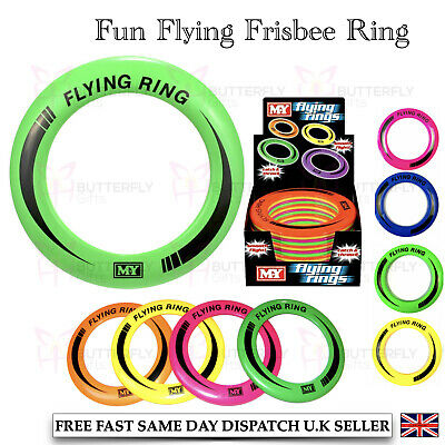 1,3,5 Or 10 X OUTDOOR FLYING FRISBEE RINGS FUN GAME PLAYING DISC KIDS TOY  • 9.99£