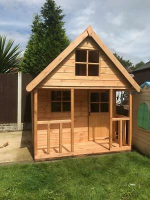 Wooden 6x6 Outdoor Childrens Playhouse - FULLY T&G - Wendy House Kids Timber Den • 619£