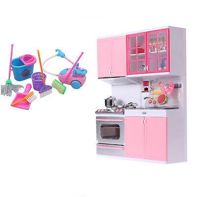Kitchen Kids Cooking Pre-school Toys Cook Play Set For Children Boys Girls Gifts • 19.89£