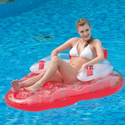 Jilong Inflatable Pool Strawberry Float Lounger Lilo Air Bed Mattress Water Fun • 12.99£