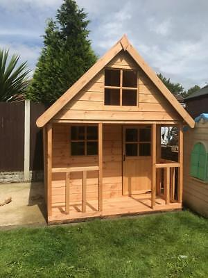 Wooden 8x6 Outdoor Childrens Playhouse - FULLY T&G - Wendy House Kids Timber Den • 679£