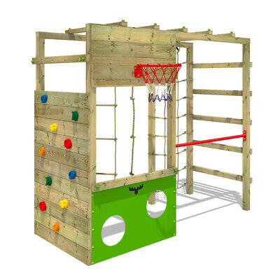 Wooden Climbing Frame FATMOOSE CleverClimber With Many Climbing Options & Gymbar • 389.95£