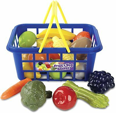 Casdon Plastic Fruit Veg Shopping Basket And Handles Pretend Food Role Play TOY • 9.59£