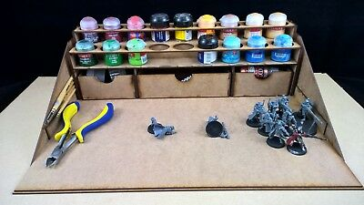Hobby Work Station GW Warhammer 40k Citadel Paints Rack Storage Wargames  • 19.99£