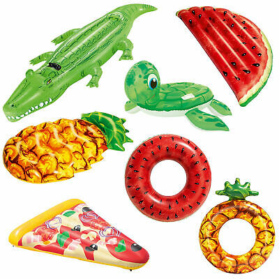 Bestway Inflatable Pool Float Holiday Pizza Turtle Watermelon Crocodile Fruit  • 14£