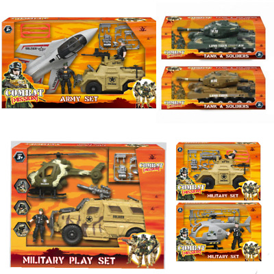 Army Base Combat Squad Soldier Attack Helicopter Military Base For Childrens Toy • 8.75£