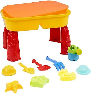 Sand And Water Table Sandpit Indoor Toys Kids Children Play Toy Set Lid Activity • 16.99£