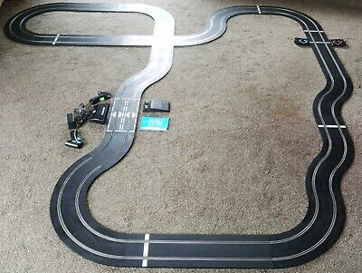Scalextric C8433 Arc One Layout Lap Counter Straights Curves Controllers + Power • 55.99£