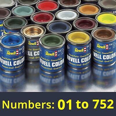 Revell 14 ML Enamel Paints Numbers 01 To 752 THE COMPLETE ENAMEL COLLECTION • 1.95£