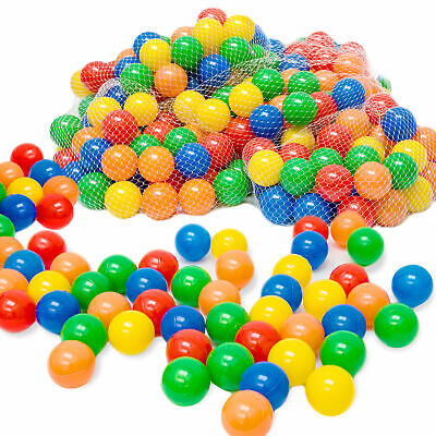 50 - 10.000 Plastic Play Balls For Children Babyballs Balls Ballbath 5 Color • 79.99£