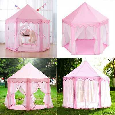 Children Kids Pop Up Castle Fantasy Playhouse Princess Girls Boys Play Tent Gift • 23.58£
