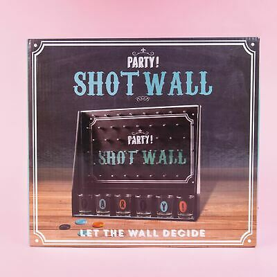 Party Shot Wall Adult Fun Drinks Shots Drinking After Dinner Party Game Hen Do • 10.99£