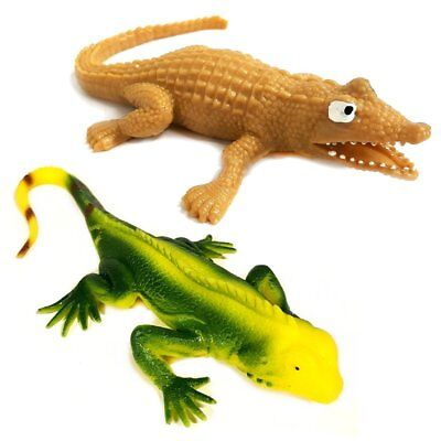 Stretchy Lizard And Stretchy Crocodile Sensory Toy Set - ADHD - Gift  • 5.99£