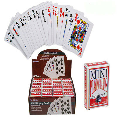 Pack Of Mini Playing Cards Miniature Poker Snap Party Bag Stocking Filler Gift • 1.95£