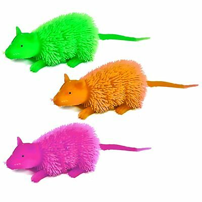Set Of 3 Flashing Rats - Sensory - ADHD - Boys - Girls - Toys - Assorted Colours • 6.99£