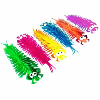 Set Of 6 Stretchy Centipede Sensory Toys - Filler - Gift - Favor - Boys - Girls • 8.99£