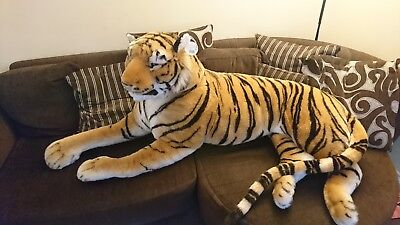 Large Giant Wild Animal Tiger Leopard Soft Plush Stuffed Cuddly Toy Up To 150cm • 55£