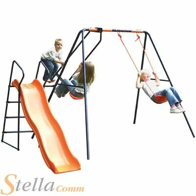 Hedstrom Saturn Kids Garden Swing Glider Slide Childrens Playset • 165.55£
