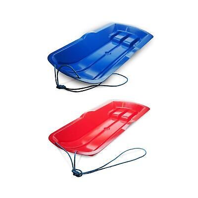 Snow Sledge For Kids And Adults With Pull Strap | Fits 2 People | Blue & Red • 19.99£