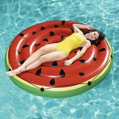 Bestway Inflatable Swimming Pool Float Watermelon Island Raft Water Fun Play Toy • 18.79£
