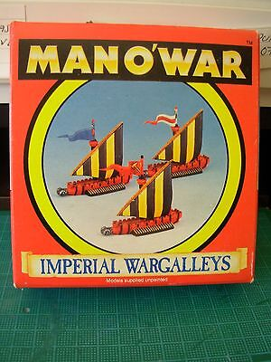 Fantasy Man O'War Empire Wargalley Squadron Of 3 In Original Box Rare OOP • 34.99£