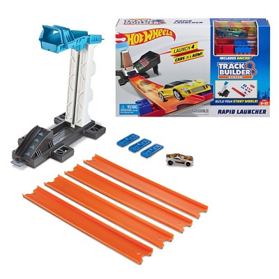New Hot Wheels Track Builder System Rapid Launcher Playset & Car Official • 12.05£