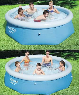 Large Paddling Garden Pool Kids Fun Family Swimming Outdoor Inflatable 8' 10' • 16.95£