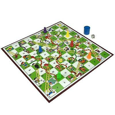 Traditional Board Game Snakes And Ladders Set Kids Adult Toy Classic Family Fun • 7.20£