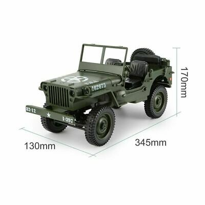 Willys Jeep OFF Road Radio Remote Control RC Truck Tank 4WD Military Army 2.4GHZ • 59.99£