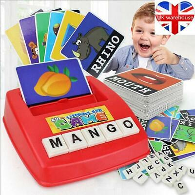 English Spelling Alphabet Letter Game Montessori Early Learning Educational Toy • 6.59£