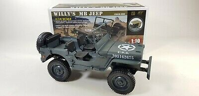 UK Willys Military Jeep Truck Model Off-Road RC Car 1:10 Mini Buggy 4WD USA ARMY • 59.99£